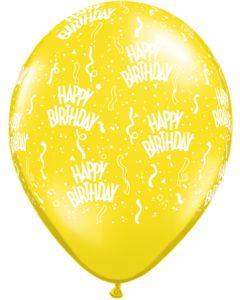 """11"""" B'day Around Citrine Yellow 50ct--"""