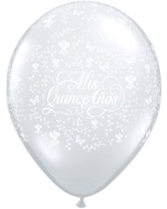 "11"" Mis Quince Anos Around Clear 50ct"