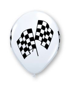 "11"" Racing Flags White 50ct"