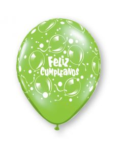 "11"" Cumpleanos Sparkling Balloons Assort 50ct"