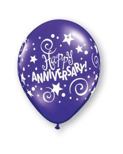 """11"""" Anniversary Stars & Swirls Fantasy Assort 50ct"""