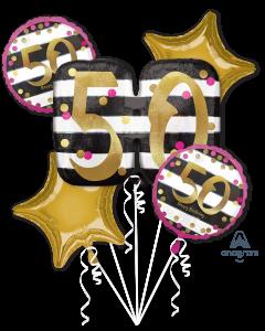50 Pink & Gold Celebration Bouquet