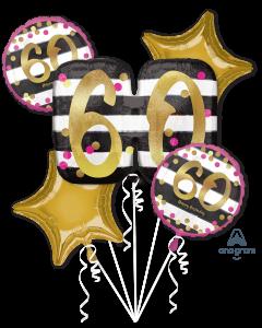 60 Pink & Gold Celebration Bouquet