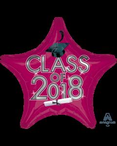 "18"" Class of 2018 - Burgundy"
