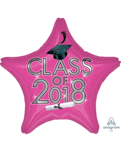 """18"""" Class of 2018 - Pink"""