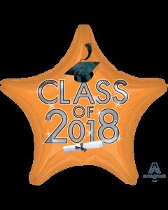 "18"" Class of 2018 - Orange"