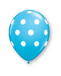 "11"" Big Polka Dots Robins Egg Blue 50ct"