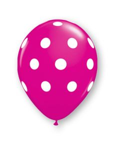 "11"" Big Polka Dots Wild Berry 50ct"