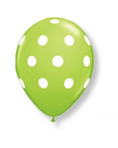 "11"" Big Polka Dots Lime 50ct"
