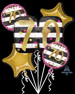 70 Pink & Gold Celebration Bouquet