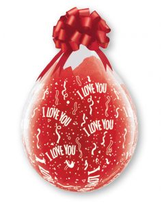 "18"" I Love You Around Clear 25ct"