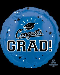 """18"""" Congrats Grad! Blue"""