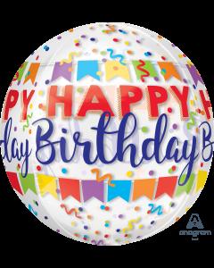 """16"""" Happy Birthday Bash Orbz"""