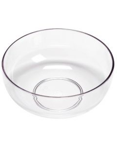 "9"" Lomey Design Bowl Clear"