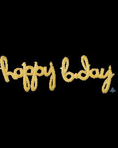 "70"" 'Happy B'day' Script in Gold"