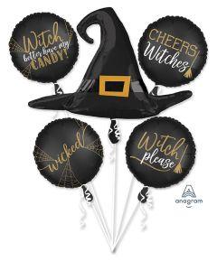 Satin Witch's Hat Bouquet