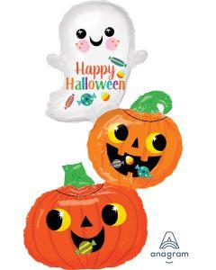 """37"""" Ghost & Pumpkin Stacker"""