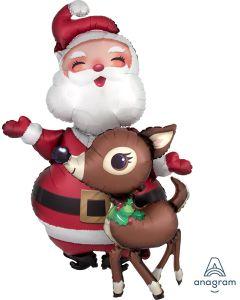 """48"""" Santa & Reindeer Airwalker"""