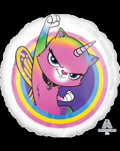 """18"""" Rainbow Butterfly Unicorn Kitty"""