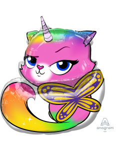 """25"""" Rainbow Butterfly Unicorn Kitty"""