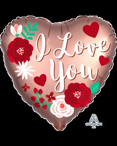 "18"" Satin Rose Copper Love Pkg"