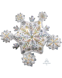 "32"" Shining Snowflake Cluster"