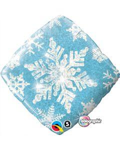 """18"""" Snowflake Sparkles Blue"""
