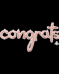 """56"""" Congrats Script Rose Gold"""
