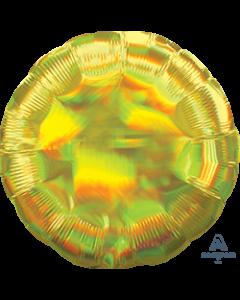 """18""""Iridescent Yellow Round"""