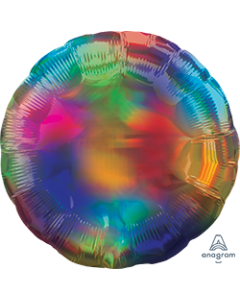 "18""Iridescent Rainbow Round"