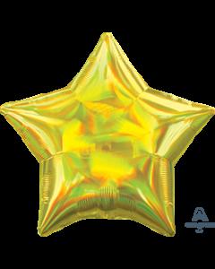 """19""""Iridescent Yellow Star"""