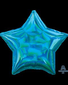 "19""Iridescent Cyan Star"