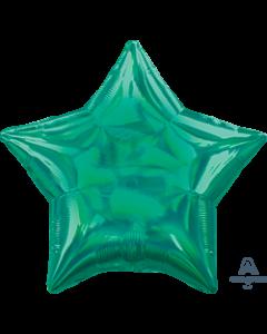 """19""""Iridescent Green Star"""