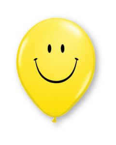 """5""""Smile Face Yellow 100ct"""