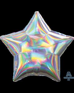 "19""Iridescent Silver Star"