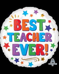 """18"""" Best Teacher Ever Stars Pkg"""