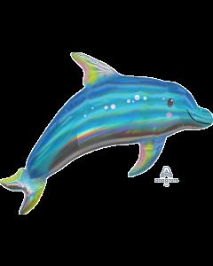 "29""Iridescent Blue Dolphin"