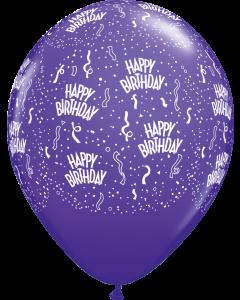 """11"""" B'day Ard Purple Violet 50ct"""