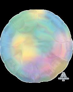 "18""Iridescent Pastel Rainbow Round"