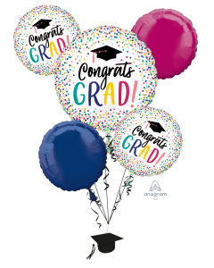 Congrats Grad Color Dots Bouquet