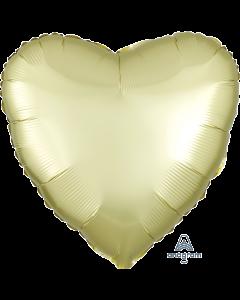 """18""""Satin Luxe Pastel Yellow Heart"""