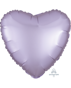 """18""""Satin Luxe Pastel Lilac Heart"""