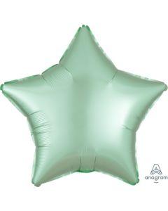 "18""Satin Luxe Mint Green Star"