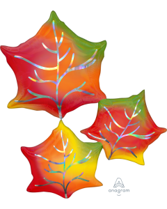 "30"" Iridescent Leaf Cluster"