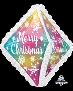 "27"" Christmas Snowflakes & Ruffles"