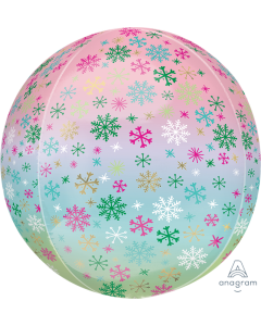 "16"" Ombre Snowflakes Orbz"