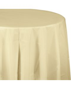 "Ivory 82"" Round Tablecover"