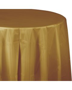 """Met. Gold 82"""" Round Tablecover"""
