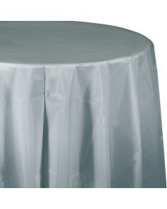 """Met Silver 82"""" Round Tablecover"""