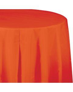 "Orange 82"" Round Tablecover"